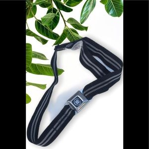 Buckle-Down Cadillac Belt Black/white Adjustable